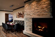Fireplace & Dining