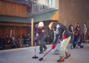 Learn to curl at Stormcloud Brewery in Frankfort, MI